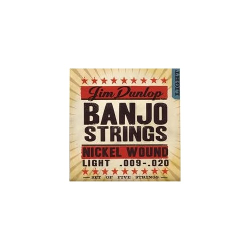 Dunlop Nickel Banjo Strings Light image