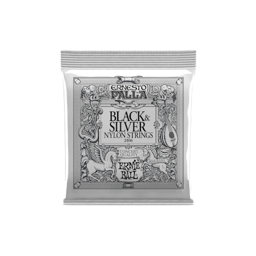 Ernie Ball Black & Silver Nylon Classical String image