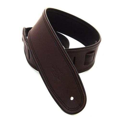 DSL Rolled Edge Guitar Strap (Brown/Black) image