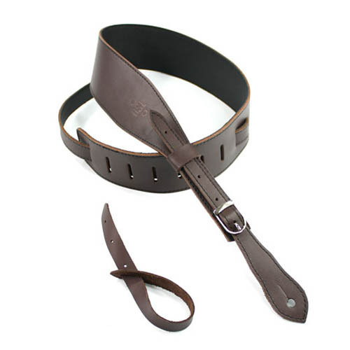 DSL Slender Buckle Guitar Strap (Brown/Black) image