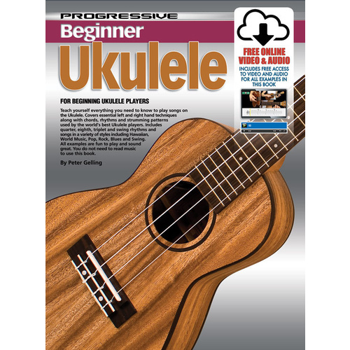 Progressive Beginner Ukulele Book/Online Video & Audio image