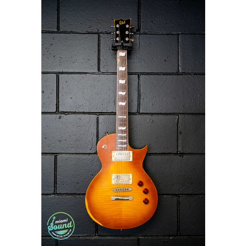 LTD EC-256 Road Worn Aged Honeyburst image