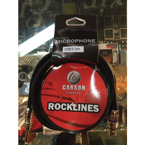 Carson Rocklines 10' Mic Cable XLR - JA image