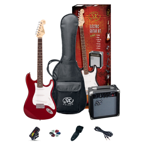 SX 3/4 Size Electric & Amp Pack [Candy Apple Red] image